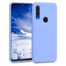 Луксозен силиконов калъф / гръб / Nano TPU за Huawei Y6p - светло син