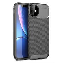 """Луксозен силиконов калъф / гръб / TPU Auto Focus за Apple iPhone 12 mini 5.4"""" - черен / Carbon"""