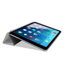 Кожен калъф / Smart Cover / със стойка за Apple iPad 5 AIR / iPad Air - бял