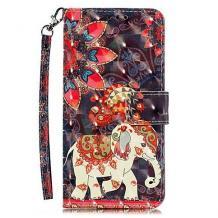 Кожен калъф Flip тефтер Flexi със стойка за Huawei Nova 5T / Honor 20 - цветен / Phoenix Elephant