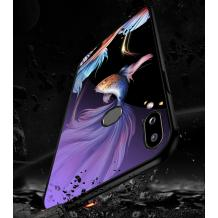 Луксозен стъклен твърд гръб за Huawei Y7 2019 - риби