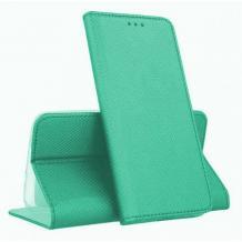 Кожен калъф Magnet Case със стойка за Samsung Galaxy A71 - мента