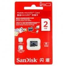 MicroSDHC карта / 2GB / SANDISK CLASS 4