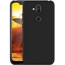 Оригинален силиконов калъф / гръб / TPU X-LEVEL Guardian Series за Nokia 8.1 / Nokia X7 - черен / мат