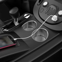 Универсално зарядно за кола / Car Charger 12V BOROFONE Qualcomm 3.0 BZ12A 2A / Type C кабел - бяло