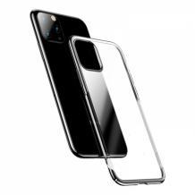 Луксозен твърд гръб Baseus Glitter Clear Case за Apple iPhone 11 Pro 5.8 - прозрачен / черен кант