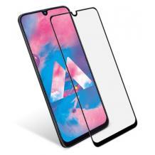 3D full cover Tempered glass screen protector Samsung Galaxy A70 / Извит стъклен скрийн протектор Samsung Galaxy A70 - черен
