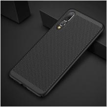 Луксозен твърд гръб за Xiaomi Mi A3 - черен / Grid