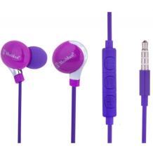 Стерео слушалки Mosidun Classic 3.5mm за смартфон - лилави
