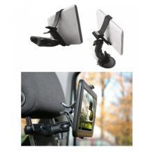 Универсална стойка за кола тип щипка / Clipper Car Mount за Samsung, Apple, Huawei, Lenovo, LG, HTC, Sony, Nokia, ZTE - черна / въртяща се на 360 градуса