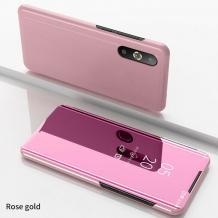 Луксозен калъф Clear View Cover с твърд гръб за Xiaomi Mi A3 - Rose Gold