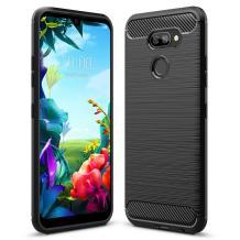 Силиконов калъф / гръб / TPU за LG K40S - черен / carbon