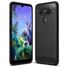 Силиконов калъф / гръб / TPU за LG K50 / Q60 - черен / carbon