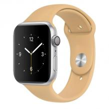 Силиконова каишка за Apple Watch 42 / 44мм - бежова