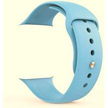 Силиконова каишка за Apple Watch 42 / 44мм - светло синя