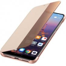 Луксозен калъф Smart View Cover за Huawei P30 - Rose Gold
