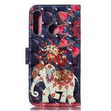 Кожен калъф Flip тефтер Flexi със стойка за Huawei P Smart Z / Y9 Prime 2019 - цветен / Phoenix Elephant