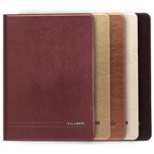 Луксозен кожен калъф KA Series Kalaideng със стойка за Apple iPAD 5 / iPad Air - кафяв