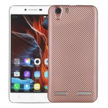 Силиконов калъф / гръб / TPU за Lenovo Vibe K5 / K5 Plus / A6020 - Rose Gold / Carbon