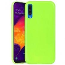 Луксозен силиконов калъф / гръб / TPU NORDIC Jelly Case за Samsung Galaxy A7 2018 A750F - лайм