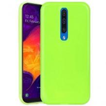 Луксозен силиконов калъф / гръб / TPU NORDIC Jelly Case за Xiaomi Mi 9T - лайм