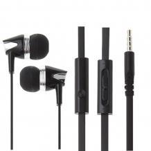 Стерео слушалки Mosidun M6 / handsfree / 3.5mm за смартфон - черни