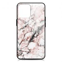 """Луксозен гръб за Apple iPhone 12 Pro Max 6.7"""" - мрамор / бял с розово"""