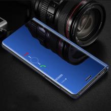 Луксозен калъф Clear View Cover с твърд гръб за Huawei Y5 2019 - син