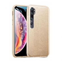 Силиконов калъф / гръб / TPU за Xiaomi Mi 10 / 10 Pro - златист / брокат
