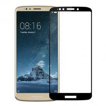 3D full cover Tempered glass Full Glue screen protector Motorola Moto E5 / Извит стъклен скрийн протектор с лепило от вътрешната страна за Motorola Moto E5 - черен