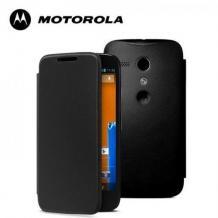 Оригинален кожен калъф Flip Cover за Motorola Moto G - черен