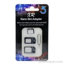 Nano SIM Adapter, Micro Sim адаптер, за Apple iPhone 4 / iPhone 4S / iPhone 5 / 5S / 5C
