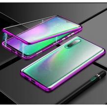 Магнитен калъф Bumper Case 360° FULL за Samsung Galaxy A70 - прозрачен / черен рамка