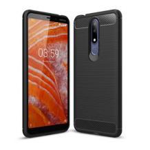 Силиконов калъф / гръб / TPU за Nokia 7.1 2018 - черен / carbon