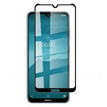 5D full cover Tempered glass Full Glue screen protector Nokia 2.3 / Извит стъклен скрийн протектор с лепило от вътрешната страна за Nokia 2.3 - черен