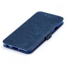 Кожен калъф Flip тефтер Flexi със стойка за Alcatel 1S - тъмно син