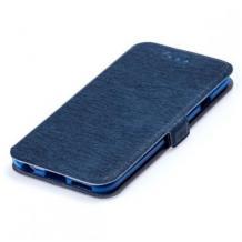 Кожен калъф Flip тефтер Flexi със стойка за Nokia 6.2 / Nokia 7.2 - тъмно син