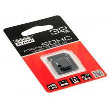 Карта памет Micro SDHC Card GOODRAM 32GB + Micro SD Adapter UHS1 Class 10
