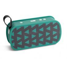 Мини Bluetooth тонколона Music M168 / Mini Bluetooth Speaker Music M168 - зелено и сиво / фигури