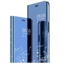 Луксозен калъф Clear View Cover с твърд гръб за Huawei P Smart Pro - син