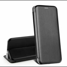 Луксозен кожен калъф Flip тефтер със стойка OPEN за Huawei P Smart Pro - черен