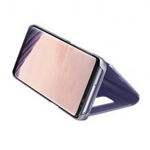 Луксозен калъф Clear View Cover с твърд гръб за Huawei P Smart Pro - Rose Gold