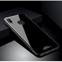 Луксозен стъклен твърд гръб за Huawei Y7 2019 - черен
