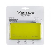 Универсална външна батерия Vennus / Universal Power Bank Vennus / Micro USB Data Cable 8000mAh - зелена