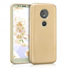 Силиконов калъф / гръб / TPU за Motorola Moto G7 Plus - златист