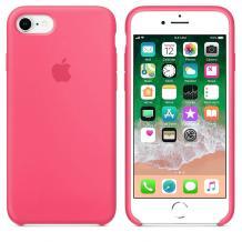 Оригинален гръб Silicone Cover за Apple iPhone 7 / iPhone 8 - тъмно розов