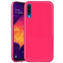 Луксозен силиконов калъф / гръб / TPU NORDIC Jelly Case за Samsung Galaxy A7 2018 A750F - цикламен