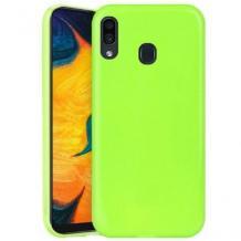 Силиконов калъф / гръб / TPU NORDIC Jelly Case за Huawei P30 Lite - лайм