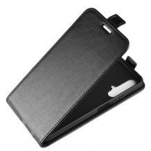 Кожен калъф Flip тефтер Flexi със силиконов гръб за Huawei Honor 20 / Huawei Nova 5T - черен
