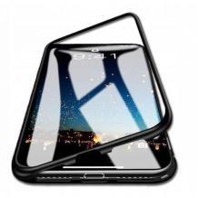 Магнитен калъф Bumper Case 360° FULL за Huawei P40 Lite - прозрачен / черна рамка